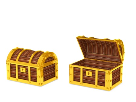 safe box: Treasure Chest Stock Photo