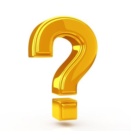 黄金の疑問符 写真素材