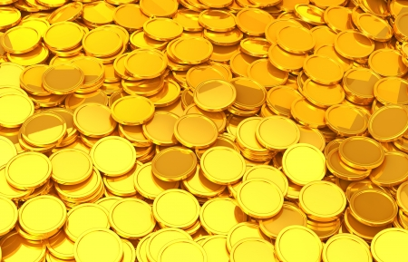 pile of coins: Gold coin Stock Photo