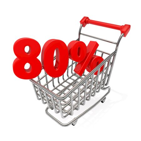 pushcart: shopping cart Stock Photo