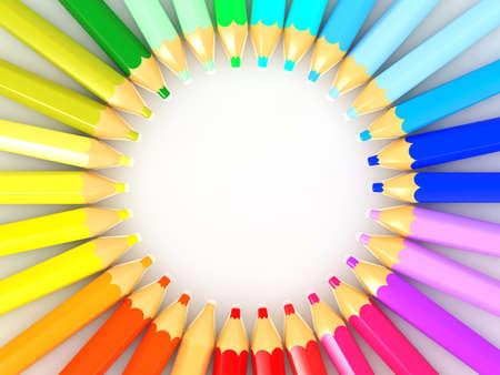 color spectrum: color pencil