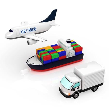 export import: logistics Stock Photo