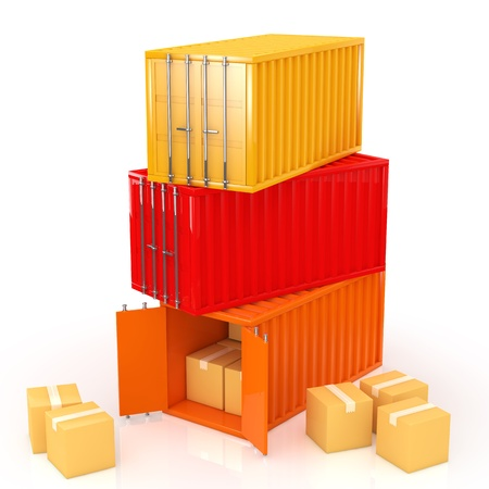 customs: container Stock Photo