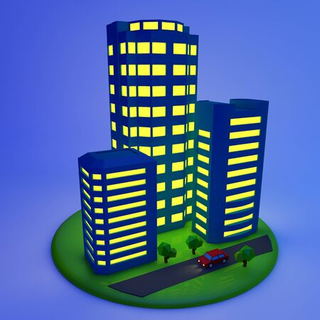 commercial real estate: building Stock Photo