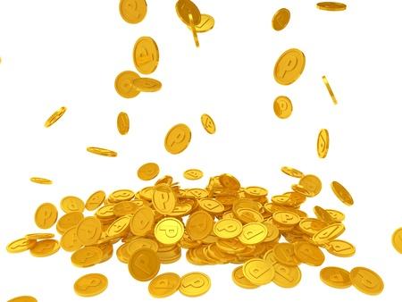 Point pièces de monnaie Banque d'images - 21805821
