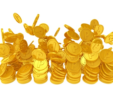 pile of coins: point coins
