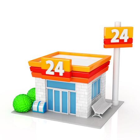 building lot: The convenience store