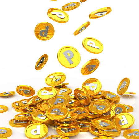lot: A lot of point coin Stock Photo