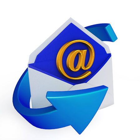arroba: E-mail icon on a white background Stock Photo