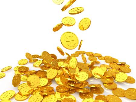lingotes de oro: Moneda de oro del dólar Foto de archivo