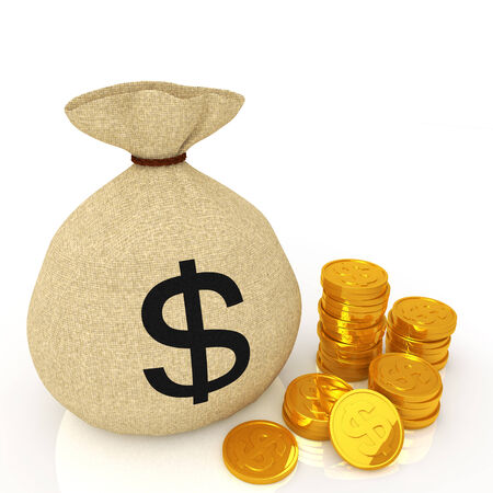lucky bag: Dollar bag and dollar gold coin