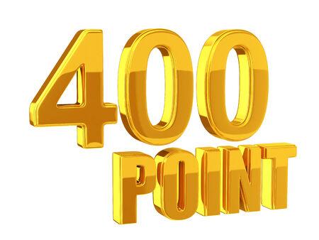 Loyalty Program 400 points Stock Photo