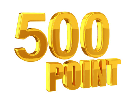 Loyalty Program 500 points Stock Photo