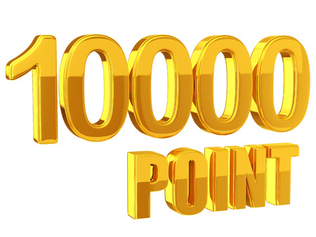 Loyaliteitsprogramma 10.000 punten Stockfoto - 35922842