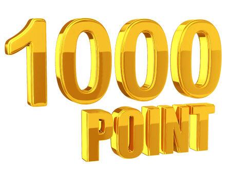 로열티 프로그램 1000 포인트 스톡 콘텐츠