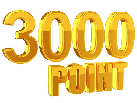 rewarding: Loyalty Program 3000 points Stock Photo