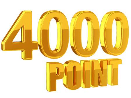 ロイヤルティ プログラム 4000 ポイント 写真素材
