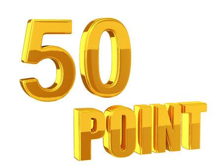 program: Loyalty Program 50 points Stock Photo