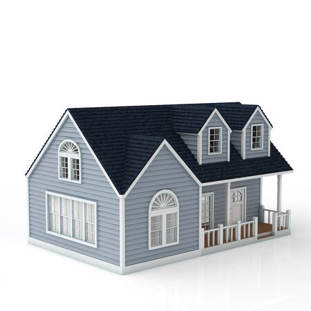 rn3d: The house on white background Stock Photo