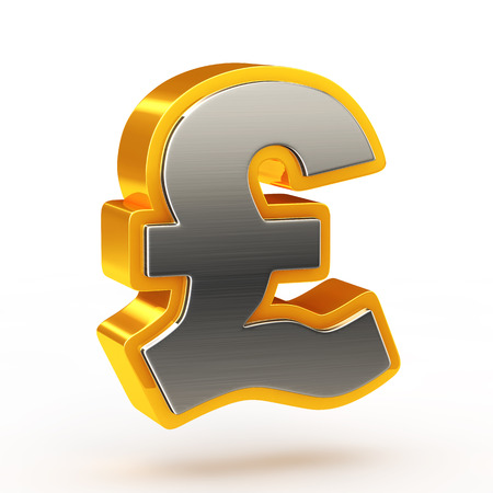 rn3d: Pound currency symbol Stock Photo
