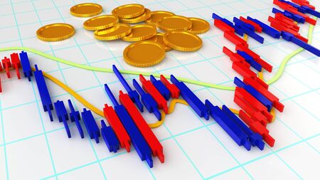 Forex Market Chart Banco de Imagens