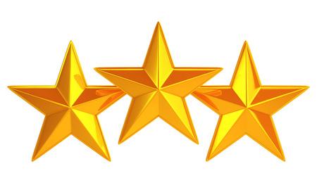 Golden three stars