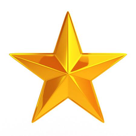 Gouden Ster Stockfoto