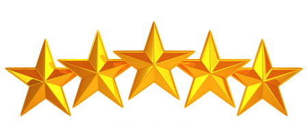 Golden five stars