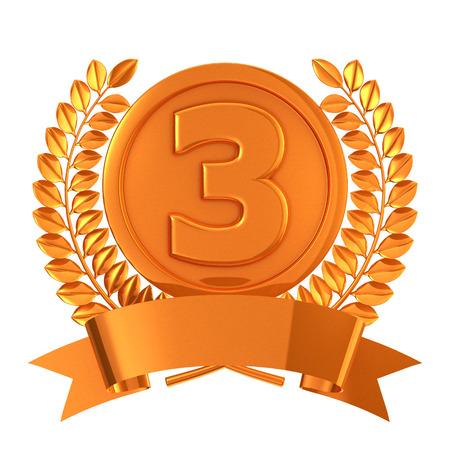 copper: Copper medal emblem Stock Photo