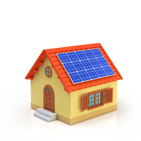 has: House has installed solar panels