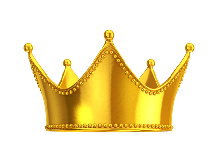 royal crown: Gold crown Stock Photo
