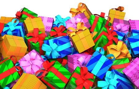 packages: Many of gift box Stock Photo