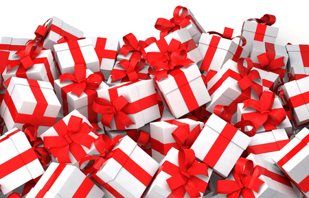 Many of gift box Banco de Imagens