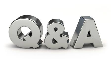 Silver Q &A. 3D illustration