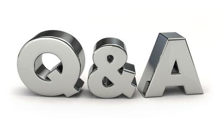 render: Silver Q &A. 3D illustration