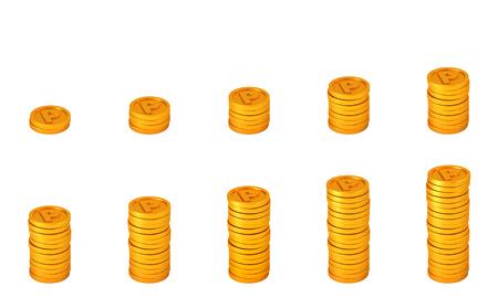 コイン ポイント。忠誠プログラムの概念 写真素材