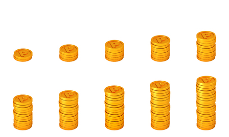 mileage: coin points. loyalty program concept