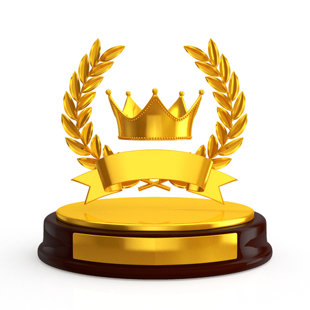 crown trophy Stock Photo