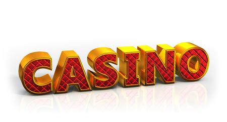 Casino logo  3D illustration