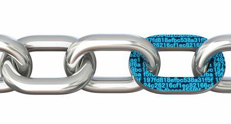 Block chain concept. 3D illustration
