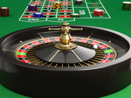 カジノのルーレットの画像 写真素材