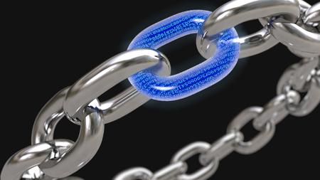 Blockchain technology concept. 3D rendering Reklamní fotografie