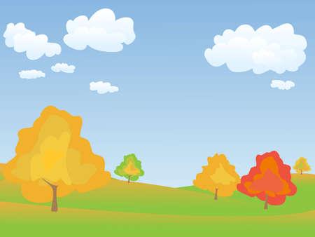autumn tranquil  landscape
