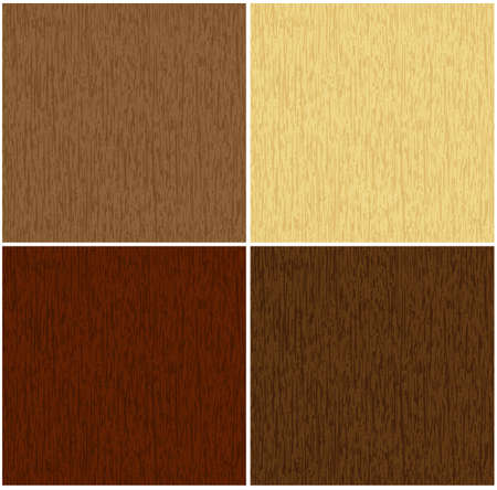 perfect matching seamless texture of wood in 4 colors Vector