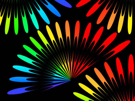 bright shapes on a dark background Stock Vector - 7988527