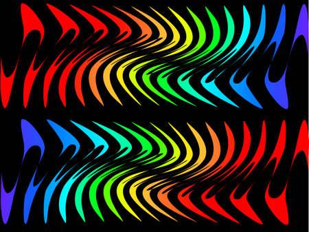 oscillation: bright shape on a dark background Illustration