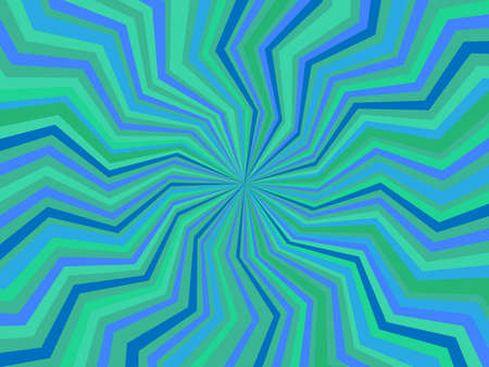 radiate: pattern of radiate zig-zag lines