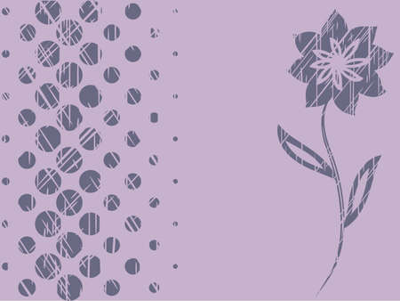 background of halftone elements and flower