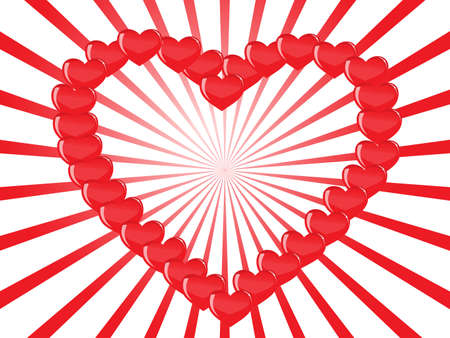 contour heart of hearts Stock Vector - 7988535