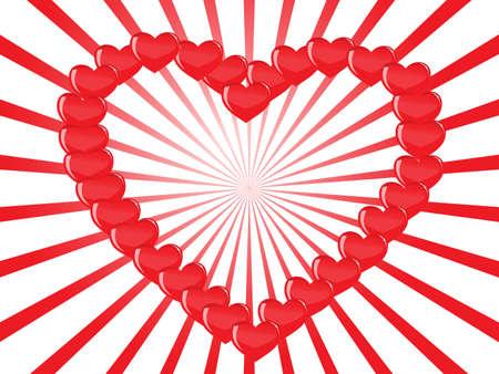 contour heart of hearts Stock Vector - 7988535